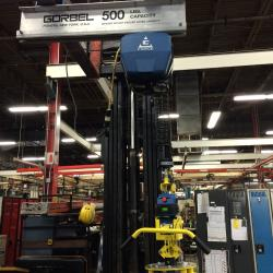 Gorbel's G Force Electric balancer with integrated lift assist