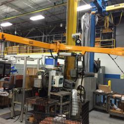 """Atlas Copco 12' reach """"Smart Arm"""" for torque reaction"""
